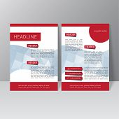 picture of booklet design  - Vector brochure template design with triangles - JPG