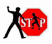 stock photo of spanking  - Concept sign against physical punishment of kids at home or at school - JPG