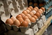 pic of stall  - fresh eggs at a food market stall - JPG