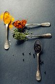 image of slating  - Herbs and spices selection  - JPG