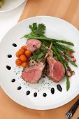 stock photo of crust  - Herb crusted lamb chops  - JPG