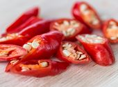 image of chili peppers  - Chopped Chillies Showing Chili Pepper And Spicy - JPG