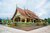 stock photo of buddhist  - Buddhist temple in the Northeast of Thailand - JPG