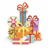 image of parallelepiped  - Gift boxes stack - JPG