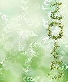 stock photo of creeper  - 2015 word of creeper flower on green bokeh background - JPG