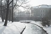 picture of munich residence  - Snowy Scene in Munich with Prince Carl Palace - JPG