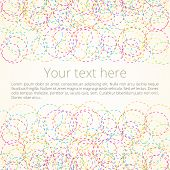 image of dash  - Abstract retro background of colored circles  - JPG
