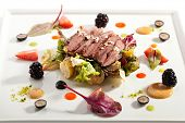picture of duck  - Duck Magret with Vegetables - JPG