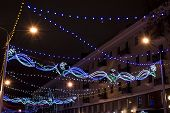image of prospectus  - The city decorated with light garlands by New year - JPG