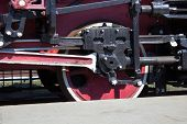 picture of train-wheel  - old vintage locomotive wheel close up  - JPG