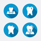 stock photo of gingivitis  - Dental care icons - JPG