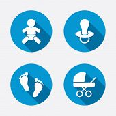 pic of buggy  - Baby infants icons - JPG