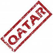 stock photo of qatar  - New Qatar grunge rubber stamp on a white background - JPG