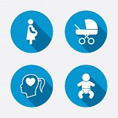stock photo of maternal  - Maternity icons - JPG
