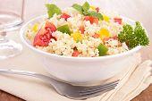 stock photo of tabouleh  - semolina and vegetable - JPG