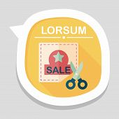 picture of coupon  - Shopping Sale Coupon Flat Icon With Long Shadow - JPG