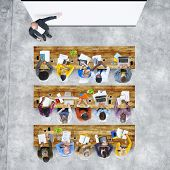 picture of training room  - Aerial View People Learning Studying Training Education Concepts - JPG