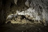 stock photo of cave  - Interior of Polovragi cave - JPG