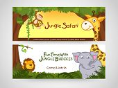 picture of jungle snake  - Jungle safari banner or website header with wild animal - JPG