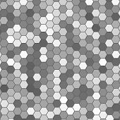 foto of hexagon  - Vector abstract 3d hexagonal - JPG
