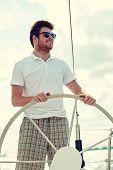 image of ship steering wheel  - vacation - JPG