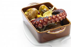 foto of devilfish  - grilled octopus with potatoes - JPG