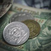 Closeup detail of Cuban Pesos  poster