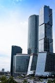 Постер, плакат: Russia Moscow June 30 2017: Skyscraper Buildings Moscow city Moscow International Business Cente