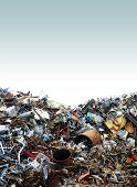 picture of junk-yard  - a photo of scrap metal in a junk yard - JPG