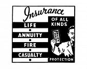Insurance Of All Kinds 3 - Retro Ad Art Banner