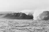 Wave Ocean Power Black White poster