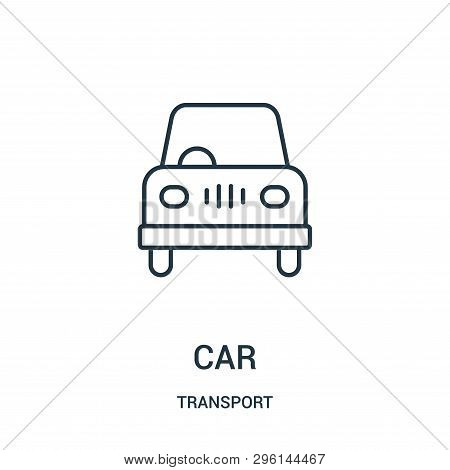 poster of Car Icon Isolated On White Background From Transport Collection. Car Icon Trendy And Modern Car Symb