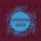 Handwriting Text Writing Entrepreneurs Wanted. Concept Meaning Looking For A Demonstrating Willing T poster