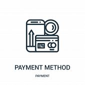 Payment Method Icon Isolated On White Background From Payment Collection. Payment Method Icon Trendy poster
