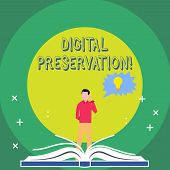 Word Writing Text Digital Preservation. Business Concept For Ensuring Access To Digital Information  poster