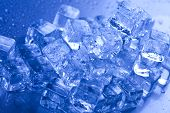 stock photo of ice-cubes  - Ice background - JPG