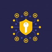 Security, Secure Communication And Encryption Icon, Eps 10 File, Easy To Edit poster
