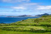 Landscape View In West Kerry, Beara Peninsula, Popular Holiday Home Destination In Ireland For Short poster