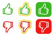 Thumbs up and down icons. Icons are aligned according to the pixel grid. It means that the images ar
