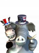 stock photo of freedom speech  - Politics - Siamese Twins.