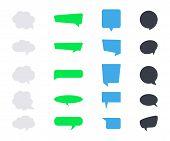 Vector Messages Bubbles. Speech Bubbles Icons. Flat Messages Bubbles. Set Of Speech Icons poster