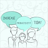 Text Sign Showing Increase Productivity. Conceptual Photo Improve The Efficiency Of Production Proce poster