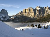 Dolomiti, Canazei - Pekol Lift And Fantastic Cloud