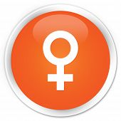 Female Icon Orange Button
