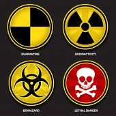 stock photo of biological hazard  - Hazard Symbols - JPG