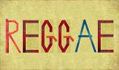 image of reggae  - Earthy background image and design element depicting the word REGGAE - JPG