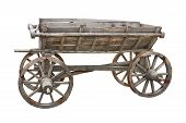 Old Wooden Wagon Cutout