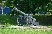 foto of artillery  - Ancient artillery piece of the last century - JPG