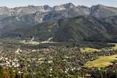 City Of Zakopane, Ski Jumps And Tatras