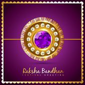 stylish vector hindu raksha bandhan festival background